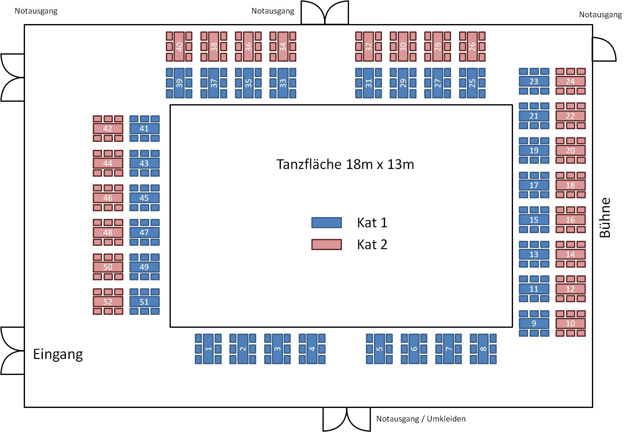 Sitzplan Tanzturnier Hofwiesenzentrum